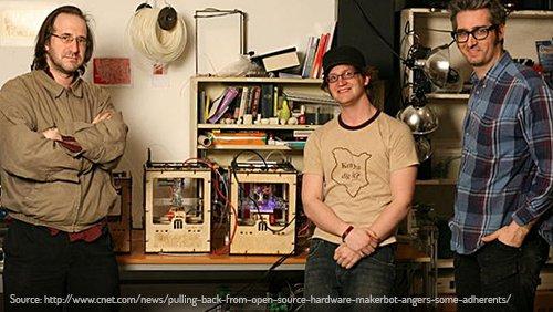 Założyciele MakerBot - historia druku 3d